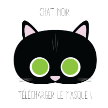 Masque chat noir Halloween